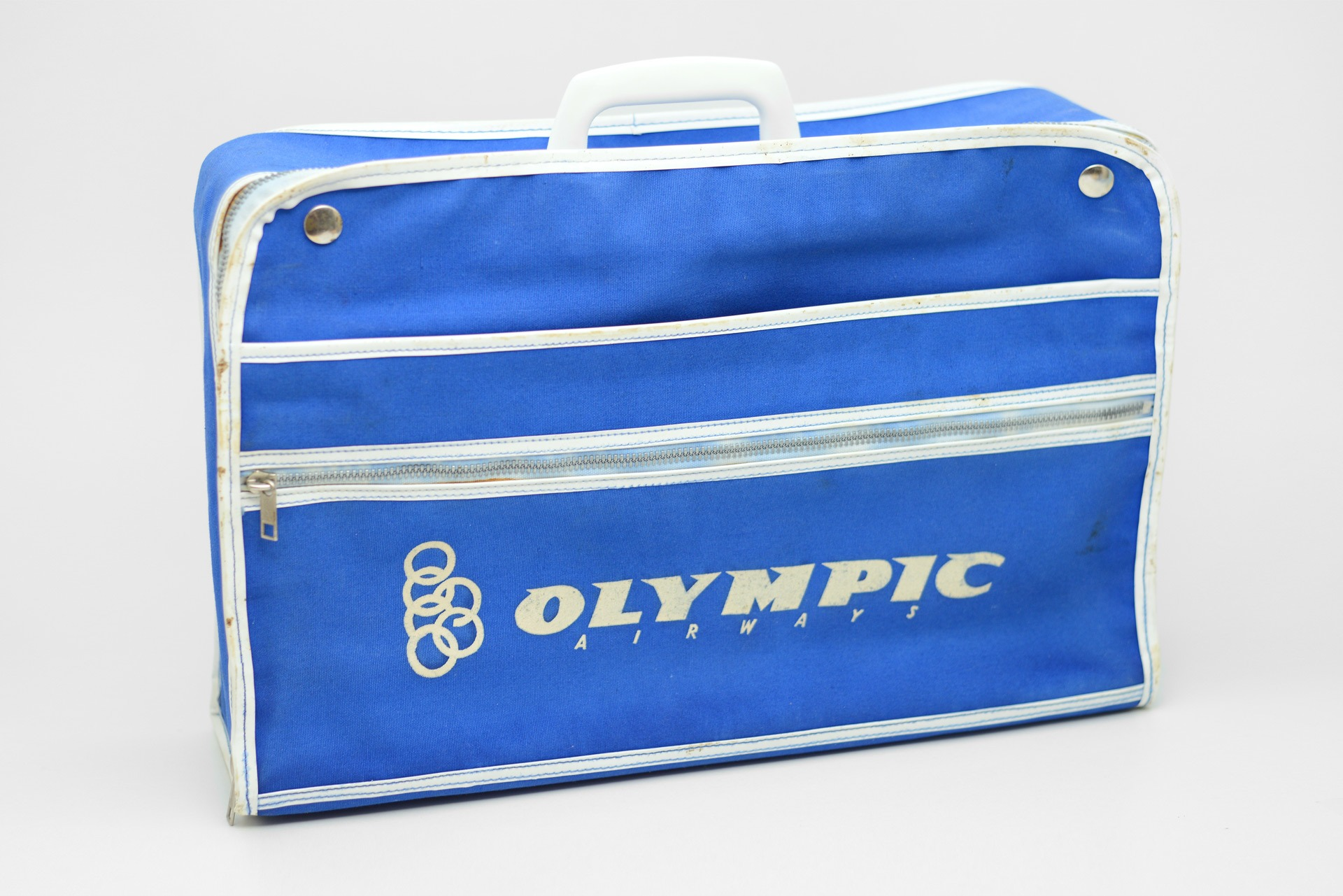 1970s Olympic Airways advertising in-flight bag