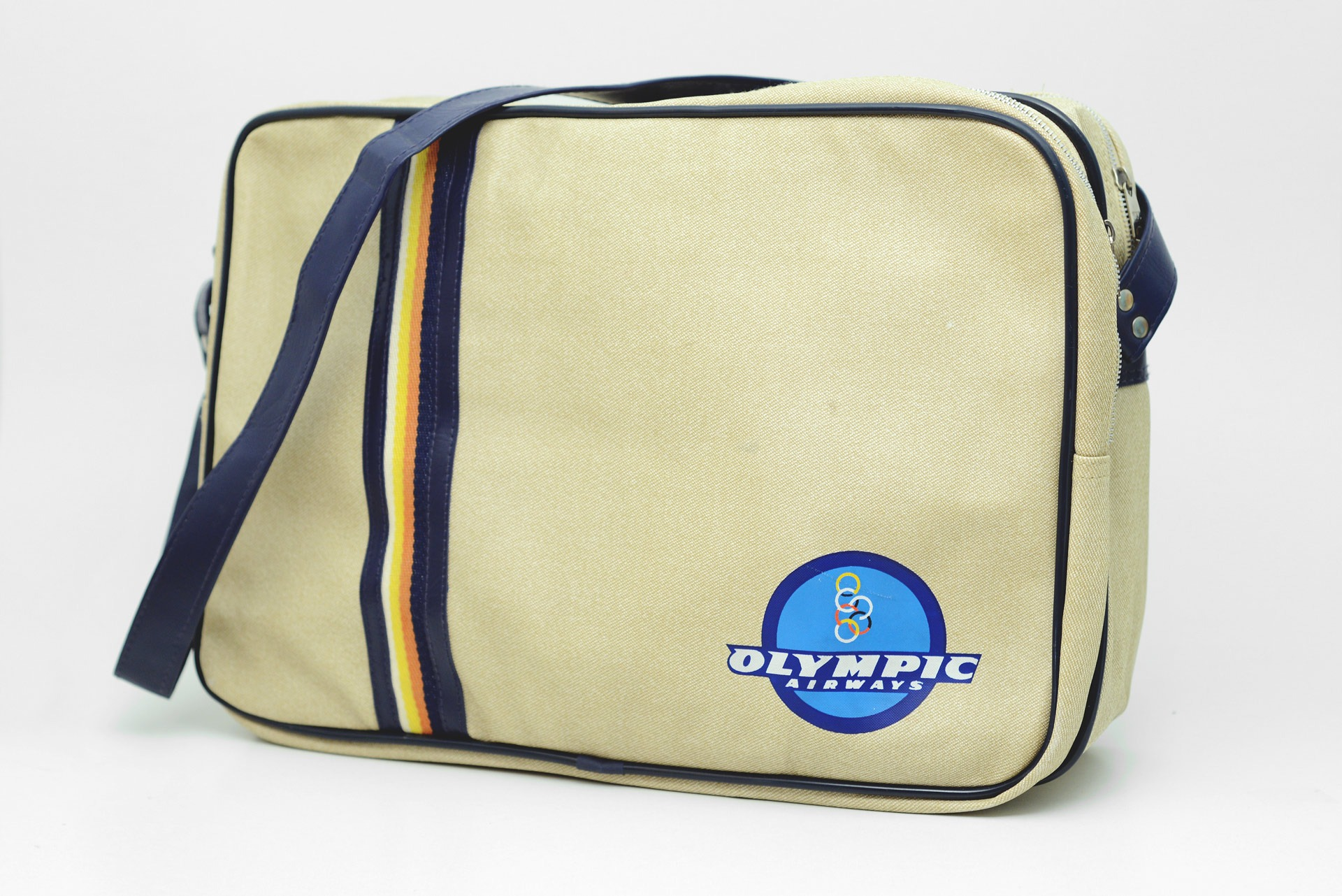 1980s Olympic Airways advertising shoulder bag
